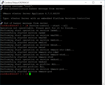 Fix unable to logon to vCenter VAMI web interface after update